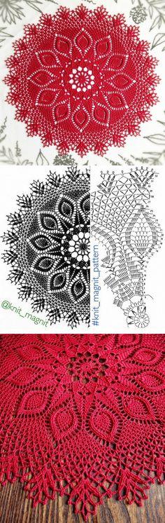 Oval crochet doily pineapple crochet doily oval by kroshetmania Crochet Doily Diagram, Crochet Mandala Pattern, Crochet Circles, Crochet Doily Patterns, Crochet Chart, Thread Crochet, Filet Crochet, Crochet Designs, Rug Patterns