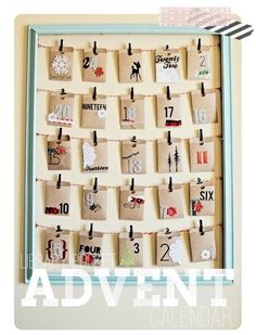 The Library Pocket Calendar; more advent calendar ideas via Buzzfeed