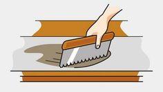 verlegst, sparst du dir das mühevolle Hanging Wallpaper, Floor Covering