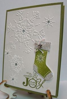 Snowflake Stitched Stocking