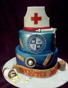 Nursing school graduation cake.. I cant wait to habe a cake like this made for Giana