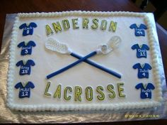 Lacrosse Cake By melvin01 on CakeCentral.com