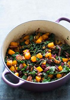 roasted butternut squash kale sauté
