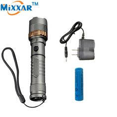 zk30 Cree XM-L T6 LED Rechargeable flashlight 4000LM Self Defense Torch lamps Lantern Tactical Emergency Defensive lampe torche