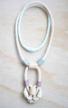 White Rope Ceramic Bead Neckalace