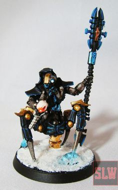 Finished: Necrons On Ice, Wave Two Warhammer 40k Necrons, Snow Globes, Decor, Decoration, Decorating, Deco