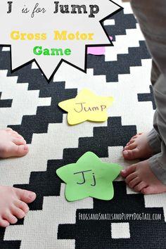 J is for Jump Gross Motor Play - FSPDT