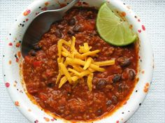 Beef Chili With Bacon & Black Beans