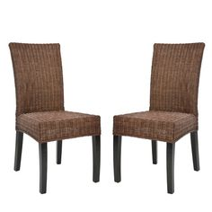 Croix Wicker Colonial Brown Dining Chairs (Set of Rattan Dining Chairs, Dining Chair Set, Dining Furniture, Dining Room, Room Kitchen, Dining Area, Dining Tables, Kitchen Dining, Kitchen Ideas