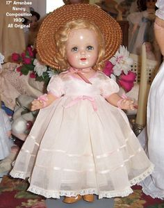 ALL ORIGINAL Arranbee (R) Nancy Composition Doll 1930s