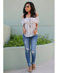36 pretty summer casual outfits ideas for women 27 – JANDAJOSS. Casual Summer Outfits For Women, Summer Fashion Outfits, Spring Summer Fashion, Spring Outfits, Casual Outfits, Cute Outfits, Girly Outfits, Spring Style, Fashion Ideas