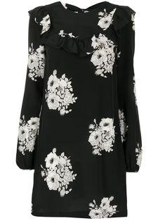 Shift Dresses, Floral Tops, Floral Prints, White Silk, Black White, Print Shift, N21, Balmain, Women Wear