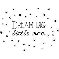 Muurtekst dream big