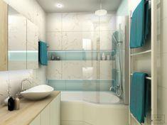 Mint & marble small bathroom