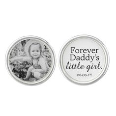 This is a great Father of the Bride Gift from the Bride. Your custom photo on one and your custom message, name, heart accent and wedding date on the other. (white background with black lettering) Color: Pale Blue. I Loved You First, Little Girl Photos, Wedding Gifts For Parents, Wedding Gifts For Groom, Wedding Plates, Call My Dad, Love Yourself First, Father Of The Bride, Father Father