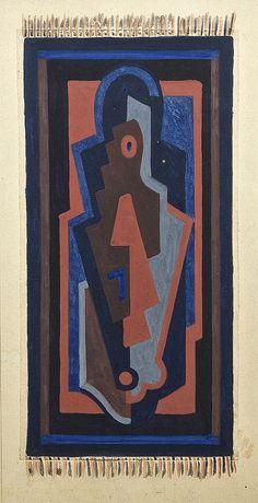 Mainie Jellett (1897-1944) Rug Design Gouache,