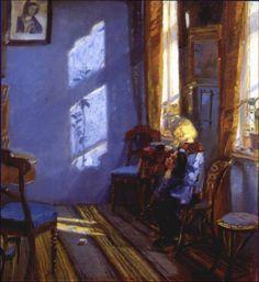 Anna Ancher (1859-1935) - Solskin i den Blå Stue (Sunlight in the Blue Room), 1891