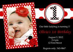 Printable Ladybug Invitation Red Ladybug Birthday Party
