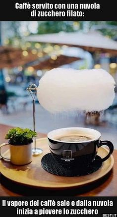 This looks so fantastic and magical! This is in a café somewhere in Shanghai. They serve coffee with cotton candy on top, so it rains sugar… Planning Menu, V60 Coffee, Coffee Barista, Coffee Shops, Coffee Time, Coffee Art, Coffee Break, Shanghai, Cotton Candy