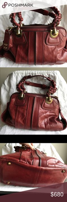 Burgundy Chloe Heloise Shoulder Bag Authentic Chloe bag. Besides some slight wear as photographed, this bag is in great condition. Comes with the original dust bag. Please let me know if you have any questions! Chloe Bags Shoulder Bags
