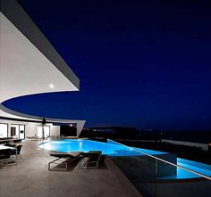 Love the lunar shape. Designed by Portuguese architectural studio Mario Martins