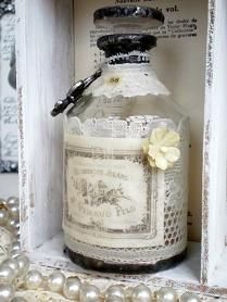 Julia ...blog Vintage With Laces...altered bottle