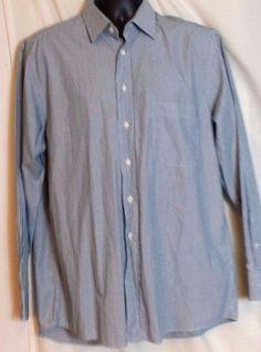 HUGO BOSS Men's Multi-Color Striped Cotton Dress Shirt Size 42, Us Size 16.5 #HUGOBOSS