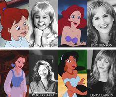 Penny (Natalie Gregory), Ariel (Jodi Benson), Belle (Paige O'Hara), Jasmine (Linda Larkin)