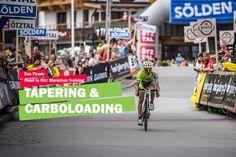 """Was ist """"Tapering"""" und warum ist es so wichtig Aber erstmal zurück zu den schönen Dingen des Bergfahrens, dem Abfahren, denn auch in der Vorbereitung beginnt jetzt der wohl schönste Teil auf der """"Road to Ötzi"""": Die letzte Woche vor dem Rennen und damit das sogenannte Tapering.  #tapering #carboloading #marathon #training #radsport Marathon Training, Athlete, Road Cycling, Nice Asses"""