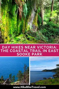 One of the most scenic though hard day hikes near Victoria BC is the 10 km Coast Trail in East Sooke Park. Allow 5 hours, more for beach time & exploration. Places To Travel, Places To See, Travel Stuff, Travel Destinations, Victoria Bc Canada, Discover Canada, Wanderlust, Day Hike, Island Life
