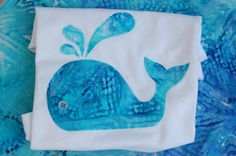 Baby Whale Onesie or Toddler TShirt with button eye by ShopMelissa, $16.00