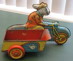 Great Vintage Wyandotte Easter Bunny Delivery Motorcycle with Side Cart | eBay