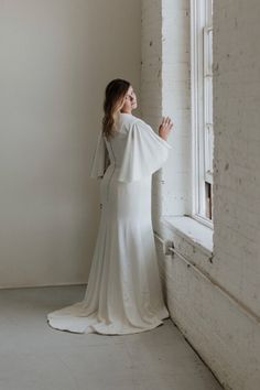 Crepe Fit And Flare Gown In 2020 Fit And Flare Bridal Collection Style