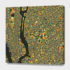"""""""New York"""", Numbered Edition Canvas Print by Jazzberry Blue - From $89.00 - Curioos"""