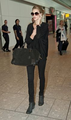 She is so chic...black on black