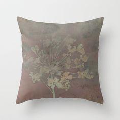 Gray Haze  Throw Pillow by RDelean - $20.00