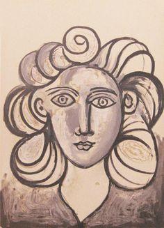 """""""Portrait of Francoise Gilot""""  Lithograph"""