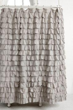 Waterfall Ruffle Shower Curtain.