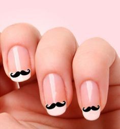 Love the mustache trend. Silly (and sorta sexy!).