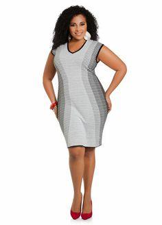 Gray Slimming Sweater Dress Plus Size Sleeveless #UNIQUE_WOMENS_FASHION