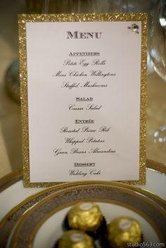 Lovely Metallic Wedding Décor