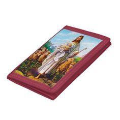 I Am the Good Shepherd John 10:7-21 Trifold Wallet - diy individual customized design unique ideas