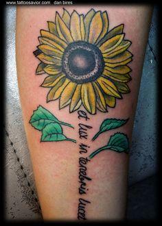 sunflower tattoos | Tattoo Portfolio by Dan Bires