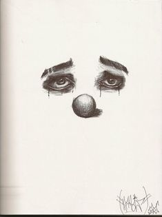i was feeling gloomy and this is what i made Crying Clown Creepy Drawings, Dark Art Drawings, Pencil Art Drawings, Art Drawings Sketches, Cool Drawings, Sad Sketches, Clown Tattoo, Sad Tattoo, Creepy Clown