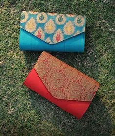 Buy The Finishing Touch Woven Splendour Sequin and zardozi embroidered brocade, jute, silk clutches and sling bags Online at Jaypore.com