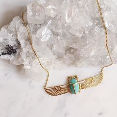 This necklace powerfully combines the scarab beetle and wing motifs from ancient Egyptian art. Hand carved and set with Lapis Lazuli. Set with a amazonite stone to sooth and calm the soul this elegant and one off bespoke piece is your invitation to stand out from the crowd.  For enquiries about this piece email hello@zoeandmorgan.com  #zoeandmorgan #lapis #amazonite