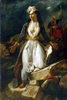 Eugène Delacroix La Grèce sur les ruines de Missolonghi 1826 Musée des beaux-arts de Bordeaux