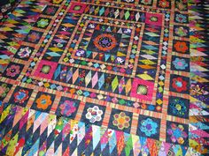 from Karen Styles blog  Mrs Billings quilt I think--love the colors!