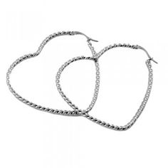 These Stainless Steel Heart Shaped Hoop Earrings are a great gift for yourself or others. This Stainless Steel Heart Shaped Hoop Earrings is a piece that won't tarnish or scratch easily, and is something you'll love to wear every day, no matter your outfit!