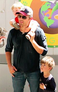 """Misha's just like """"yea there is a baby on my head, carry on my wayward son......"""""""